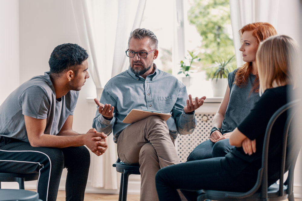 addiction recovery meeting